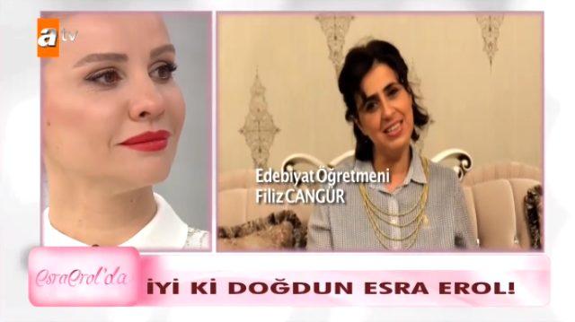 Esra Erol doğum günü sürprizi ile canlı yayında gözyaşlarına boğuldu