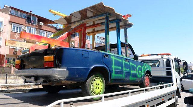 Aracın bagajında mangal yakan sürücü ve araç sahibine 6 bin TL ceza