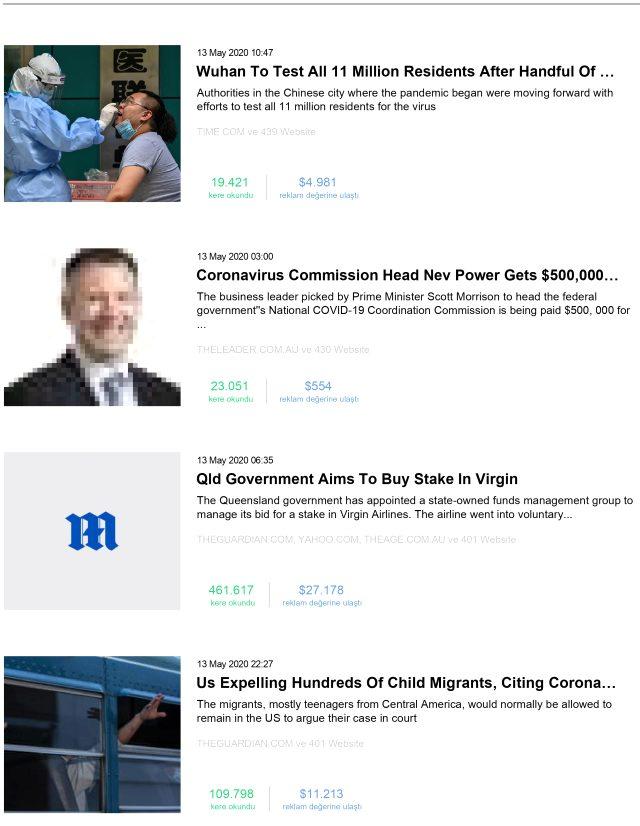 Habermetre, koronavirüs haberlerini analiz etti! İşte, 13 Mayıs 2020 Çarşamba yerli ve yabancı basındaki haberler