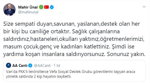 Son Dakika: PKK'lı teröristler, Van'da Vefa Destek Grubu'na saldırdı: 2 kişi hayatını kaybetti