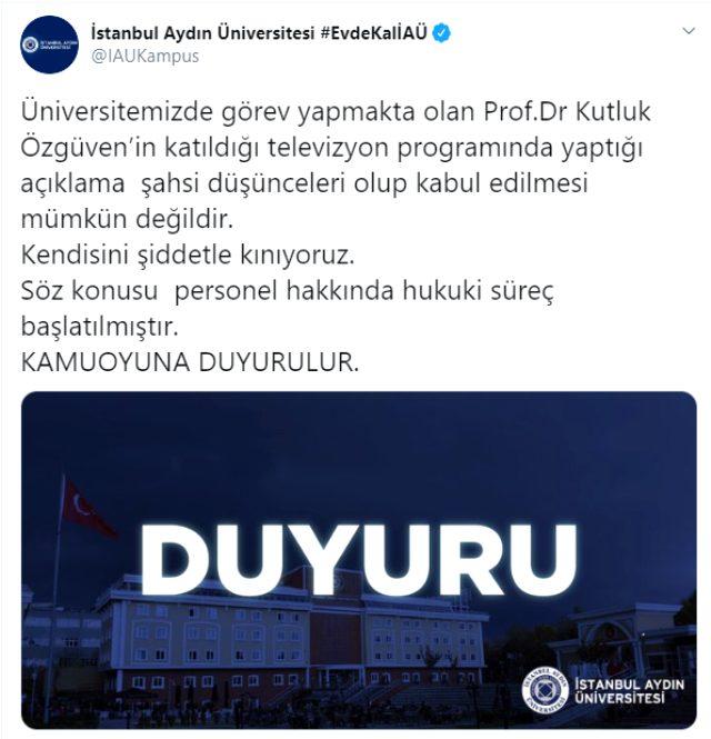 Kız çocukları hakkında tepki çeken sözlere imza atan profesör hakkında Aydın Üniversitesi soruşturma başlattı