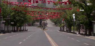 Başkentte sokağa çıkma kısıtlamasında tüm cadde ve sokaklar derin bir sessizliğe büründü