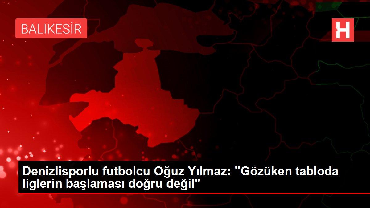 Denizlisporlu futbolcu Oğuz Yılmaz: