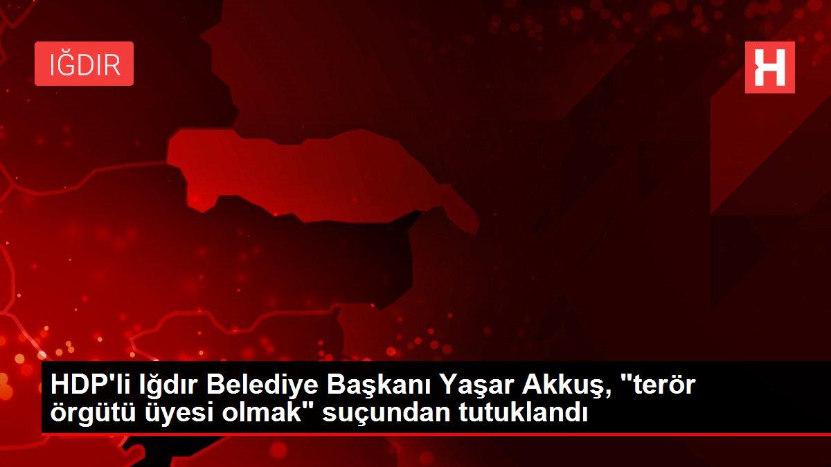 HDP'li Iğdır Belediye Başkanı Yaşar Akkuş, 'terör örgütü üyesi olmak' suçundan tutuklandı