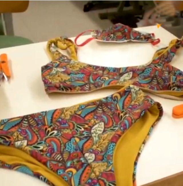 İtalyanlar koronavirüse özel üç parçadan oluşan bikini tasarladı