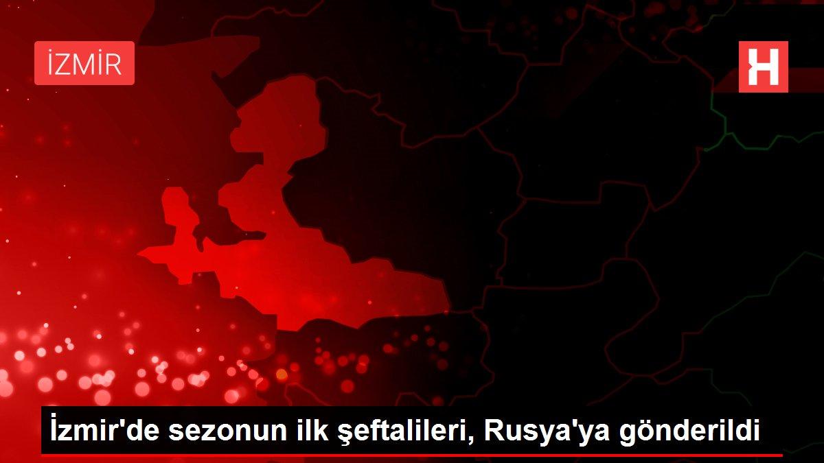 İzmir'de sezonun ilk şeftalileri, Rusya'ya gönderildi