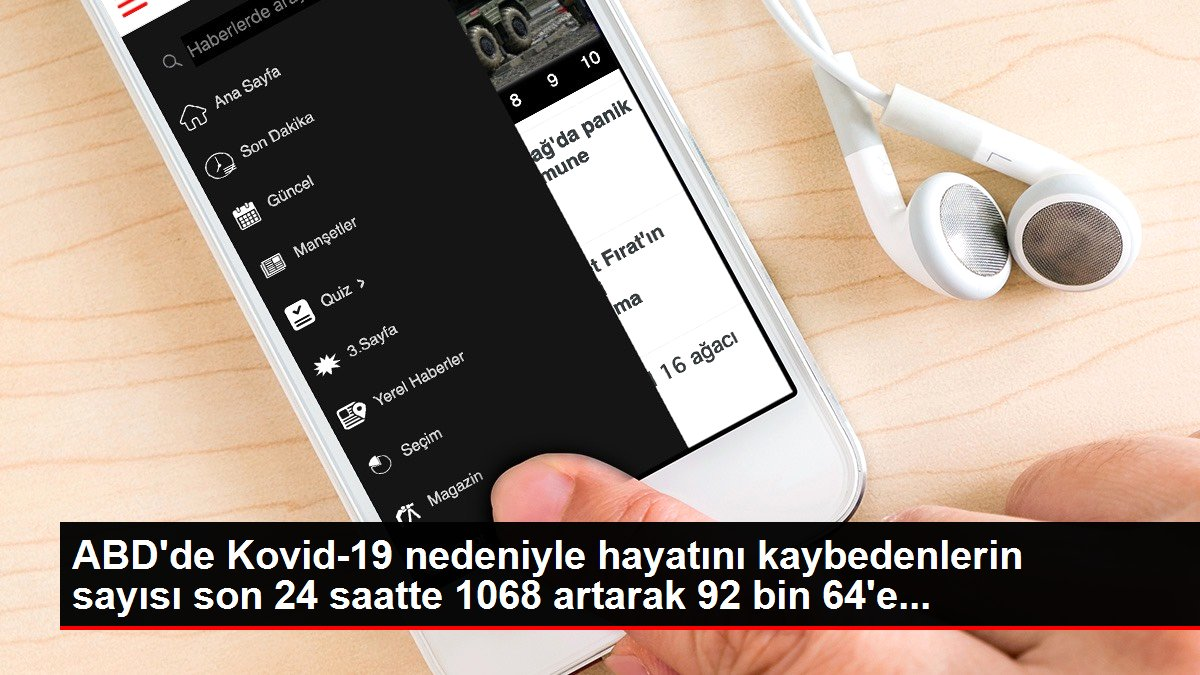 ABD'de Kovid-19 nedeniyle hayatını kaybedenlerin sayısı son 24 saatte 1068 artarak 92 bin 64'e...