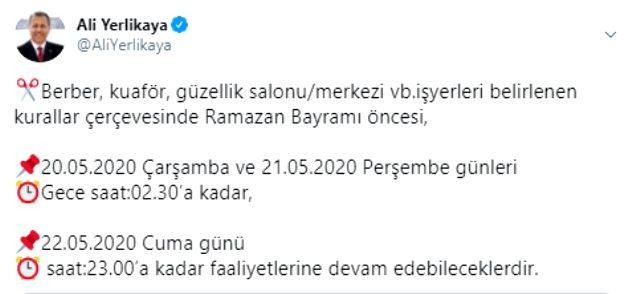 Ankara'nın ardından İstanbul'da da bayram öncesi berberlerin çalışma saatleri değişti