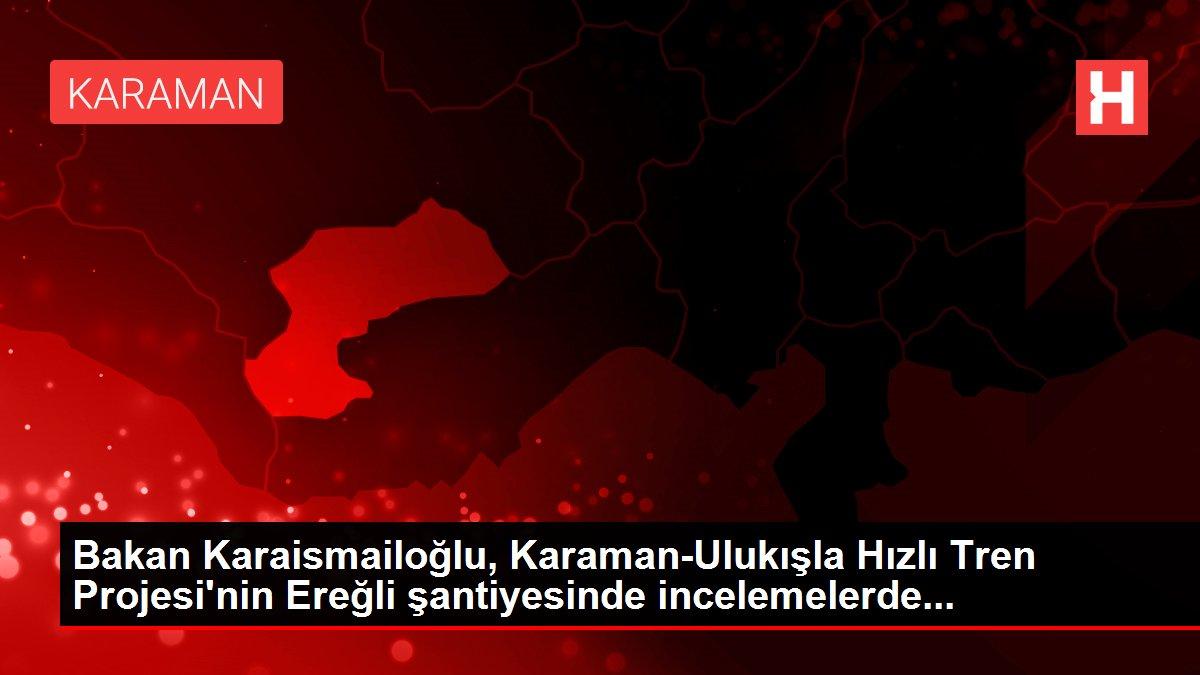 Bakan Karaismailoğlu, Karaman-Ulukışla Hızlı Tren Projesi'nin Ereğli şantiyesinde incelemelerde...