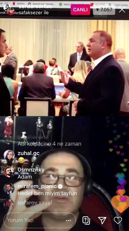Juve'nin yıldızı Şafak Sezer'in canlı yayınına katıldı: Hedef ben miyim Tayfun