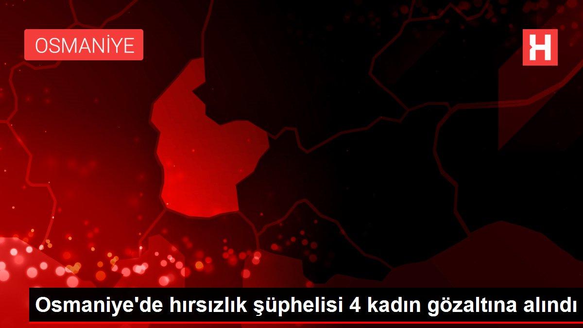 Osmaniye'de hırsızlık şüphelisi 4 kadın gözaltına alındı