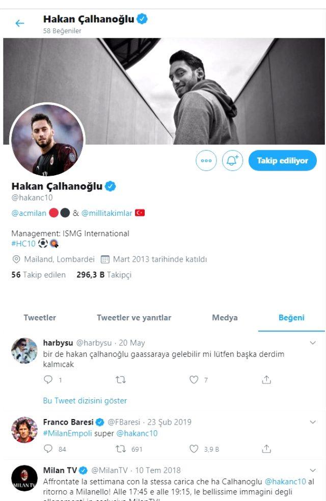 Hakan Çalhanoğlu'nun Galatasaray beğenisi, sarı-kırmızılı taraftarları heyecanlandırdı
