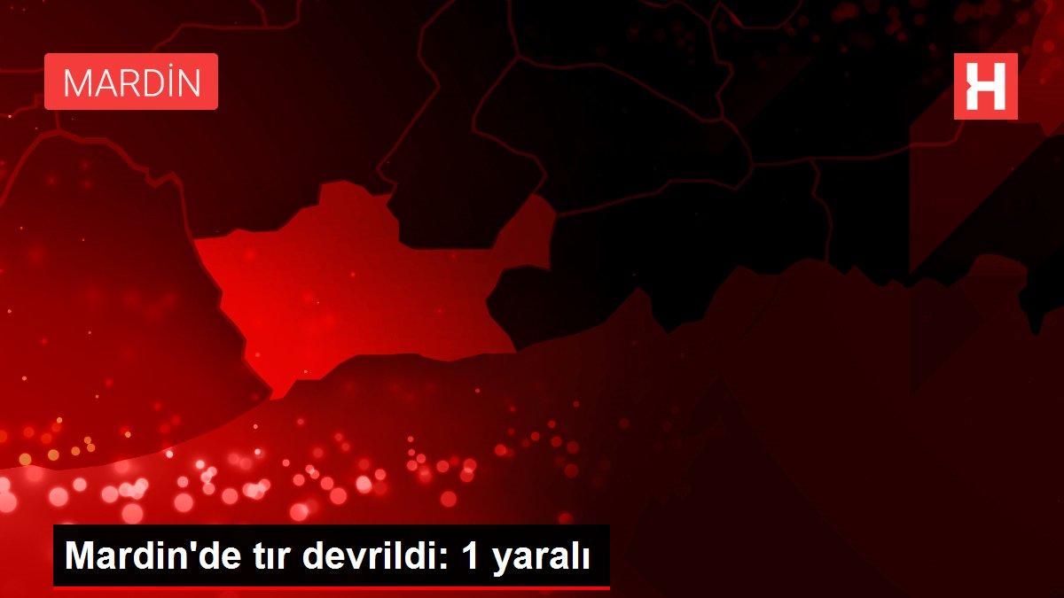 Mardin'de tır devrildi: 1 yaralı