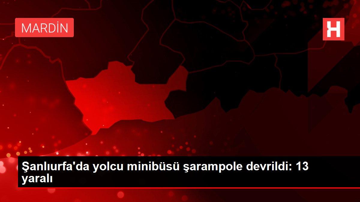 Şanlıurfa'da yolcu minibüsü şarampole devrildi: 13 yaralı