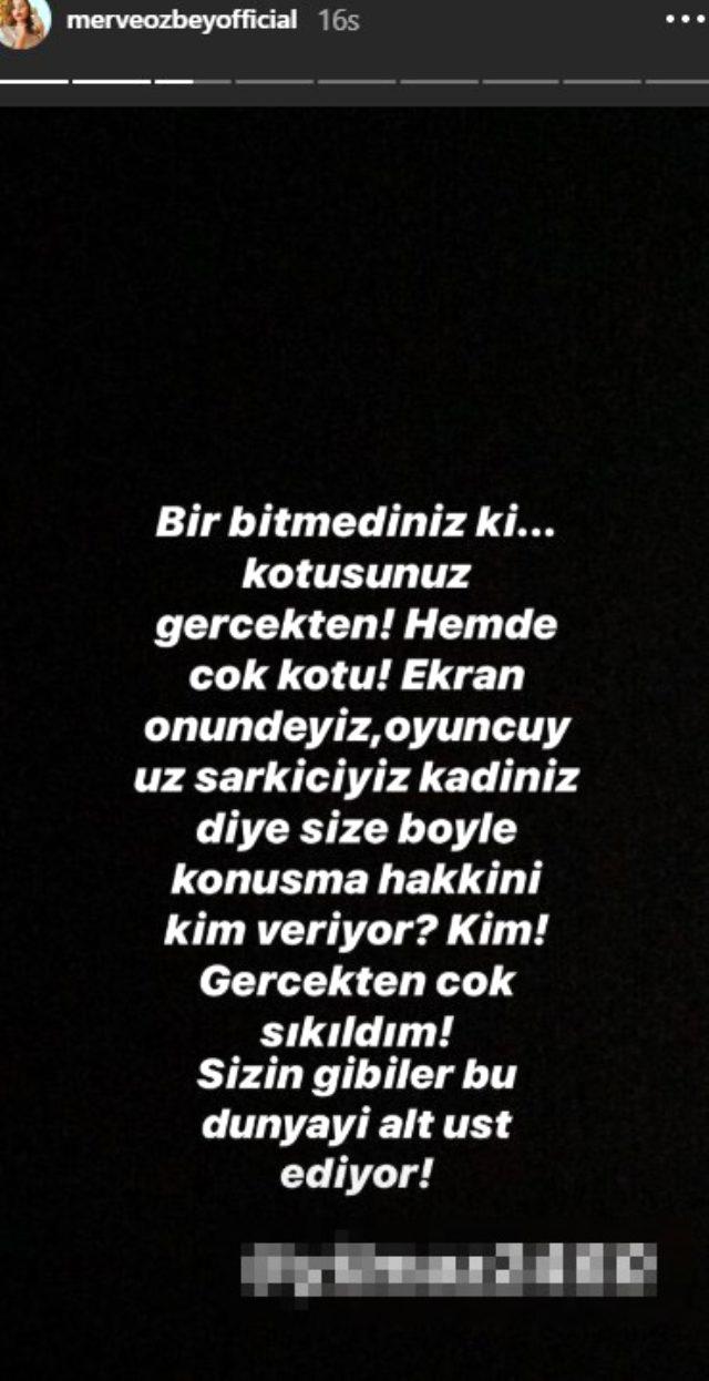 Şarkıcı Merve Özbey 'Çocuk yapın da görelim' diyen takipçisine sert çıktı: Size böyle konuşma hakkını kim veriyor?