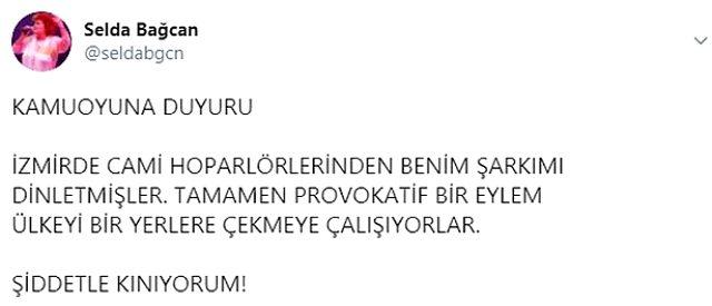 Cami hoparlörlerinden 'Yuh Yuh' şarkısı çalınan Selda Bağcan'dan ilk açıklama