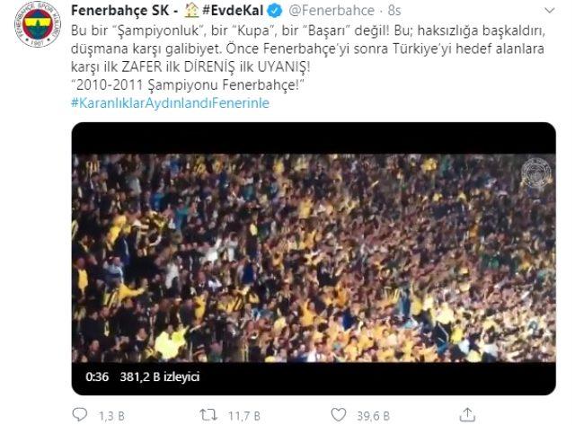 Fenerbahçe'nin 2010-11 sezonu şampiyonluğu paylaşımına Trabzonspor'dan çarpıcı yanıt geldi
