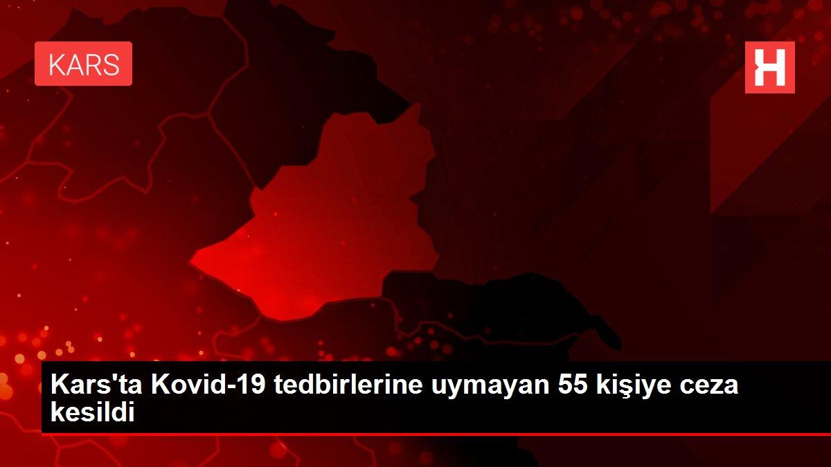 Kars'ta Kovid-19 tedbirlerine uymayan 55 kişiye ceza kesildi
