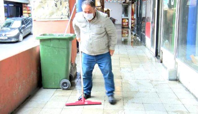 Otogardaki 80 dükkanı sel bastı! Esnaf, asfalt kazan İBB'yi suçladı