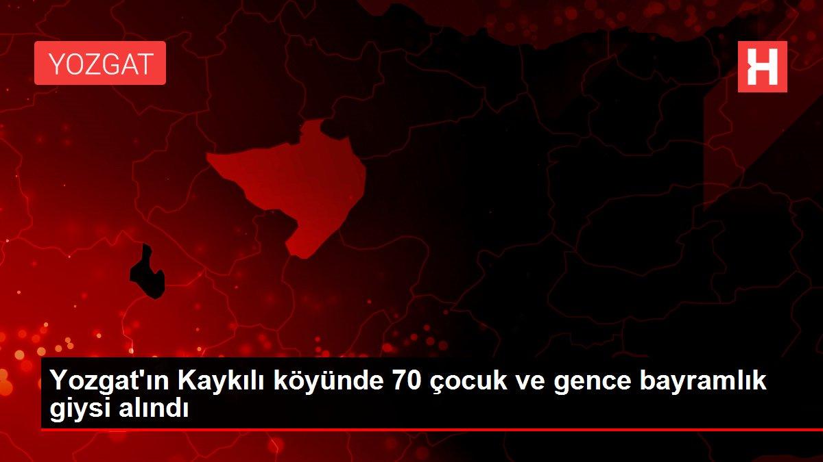 Yozgat'ın Kaykılı köyünde 70 çocuk ve gence bayramlık giysi alındı
