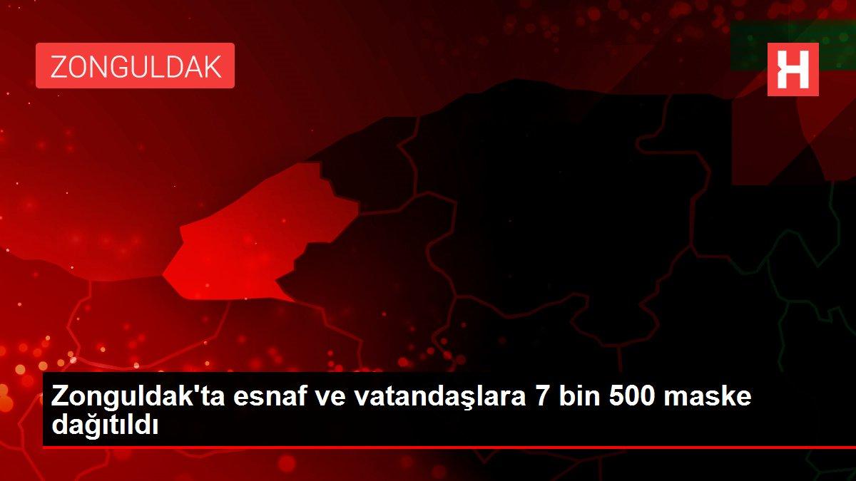 Zonguldak'ta esnaf ve vatandaşlara 7 bin 500 maske dağıtıldı