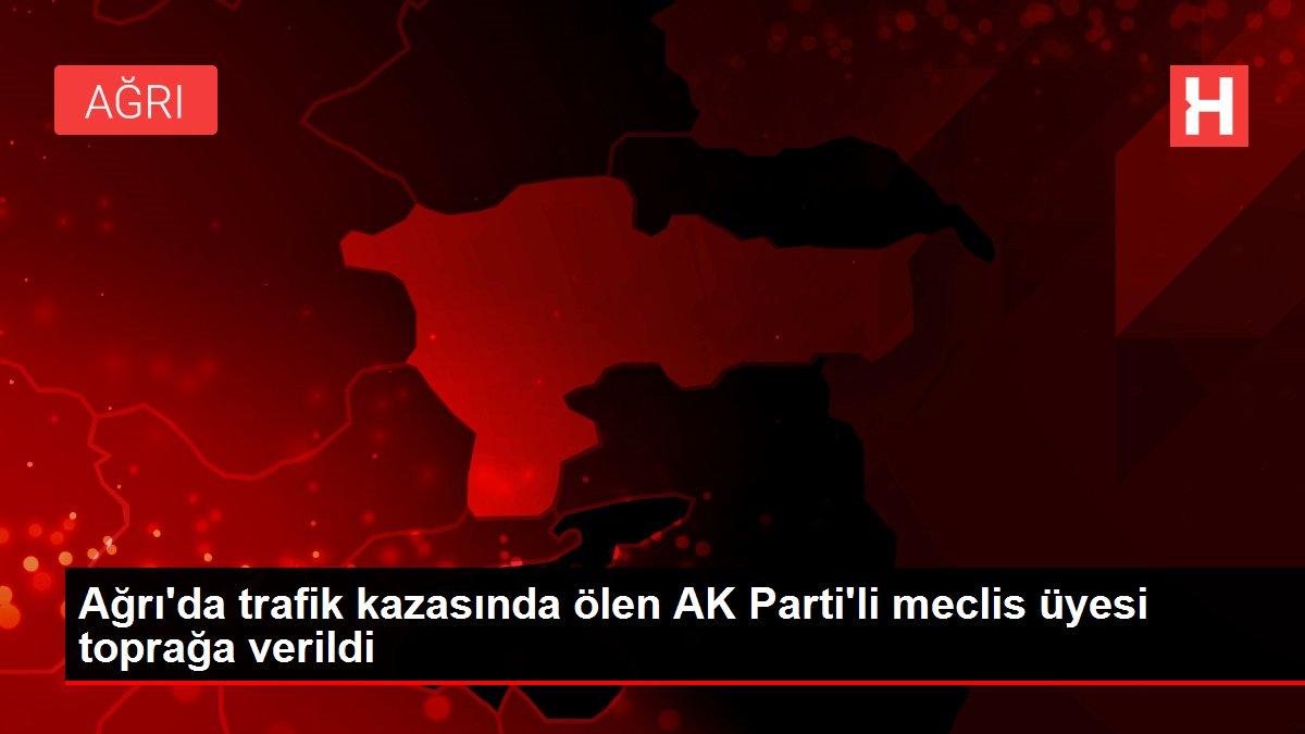 Ağrı'da trafik kazasında ölen AK Parti'li meclis üyesi toprağa verildi