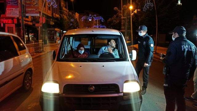 Düzce'de sokağa çıkma yasağını delen 7 kişiye ceza uygulandı