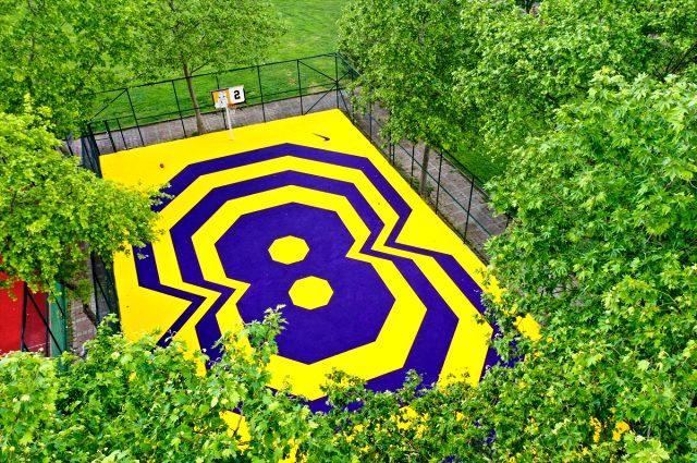Kobe Bryant'ın adı, İstanbul Caddebostan'daki bir basketbol sahasına verildi