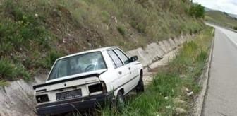 Sungurlu: Otomobil su kanalına uçtu