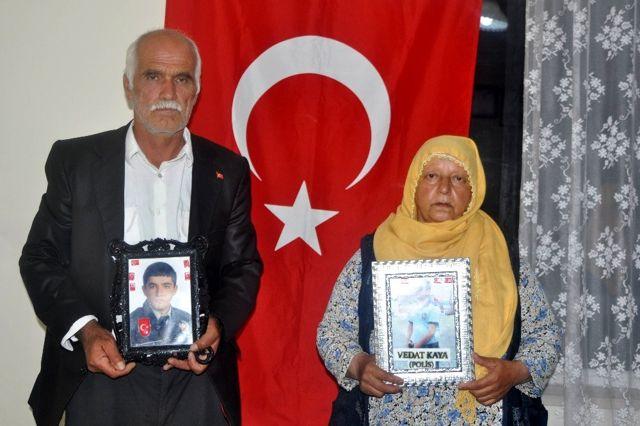 PKK tarafından kaçırılan polis memuru Vedat Kaya'nın annesi Emine Kaya Açıklaması