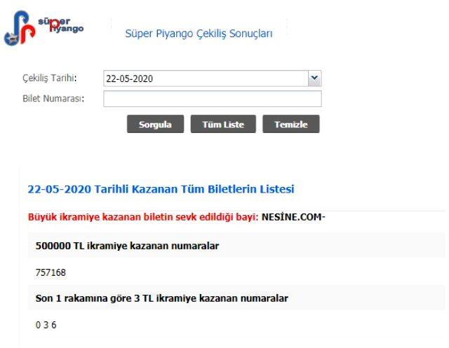 Süper Piyango sonuçları MPİ tarafından açıklandı! 22 Mayıs Cuma Süper Piyango çekilişi