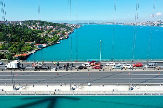 15 Temmuz Şehitler Köprüsü'ne film seti kuruldu