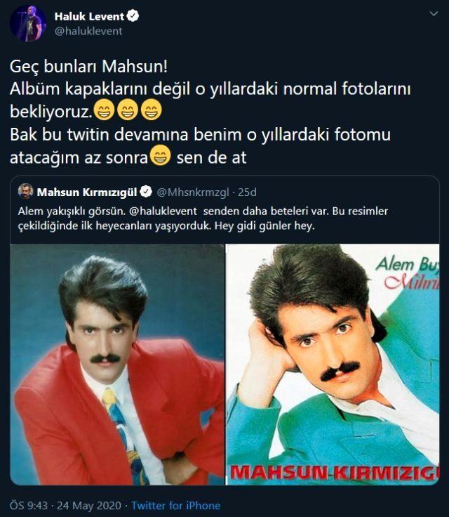Haluk Levent ile Mahsun Kırmızıgül, Twitter'da gençlik fotoğraflarını yarıştırdı