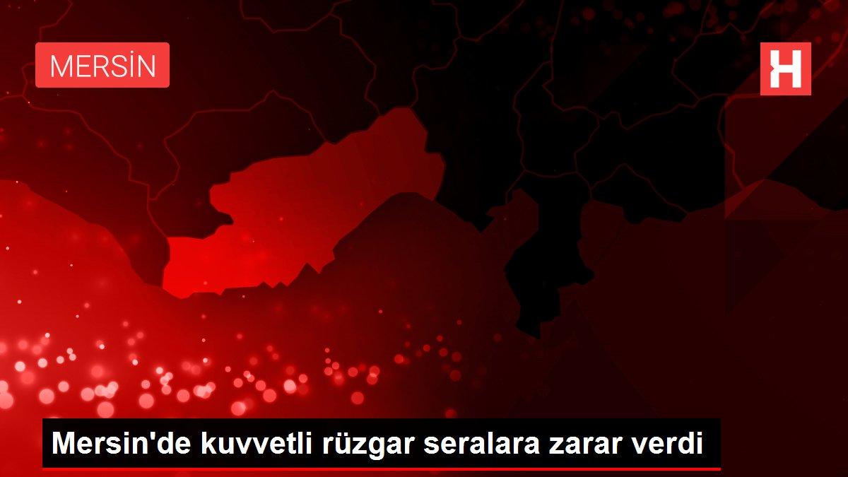 Mersin'de kuvvetli rüzgar seralara zarar verdi
