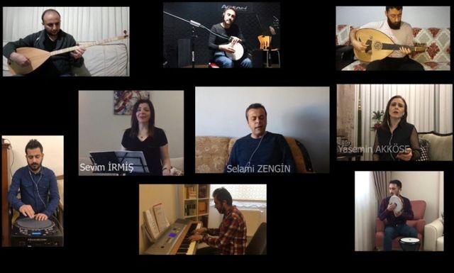 Müzik öğretmenlerinden klipli bayram kutlaması