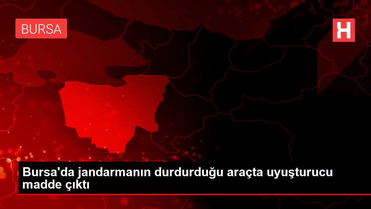 Bursa'da jandarmanın durdurduğu araçta uyuşturucu madde çıktı