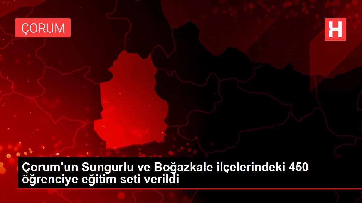 Çorum'un Sungurlu ve Boğazkale ilçelerindeki 450 öğrenciye eğitim seti verildi