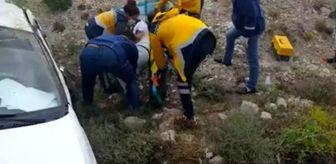 Bağözü: Beypazarı'nda bir araç şarampole yuvarlandı: 1 yaralı