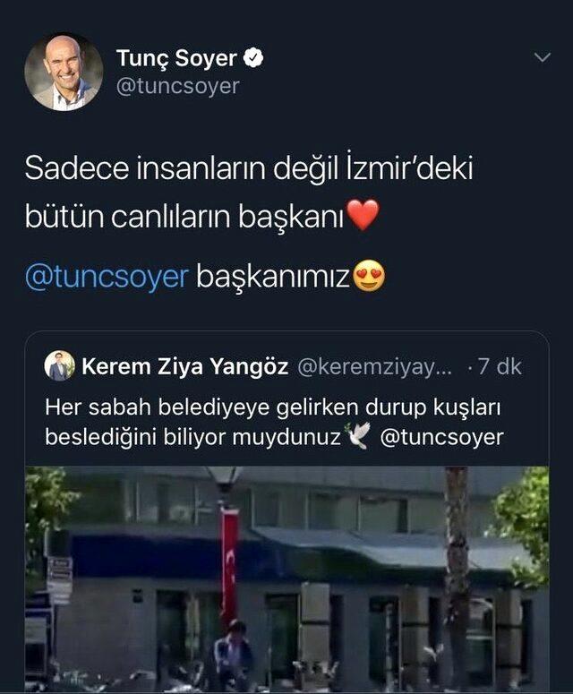 İzmir Büyükşehir Belediye Başkanı Tunç Soyer'in hesabından yapılan paylaşım istifa getirdi