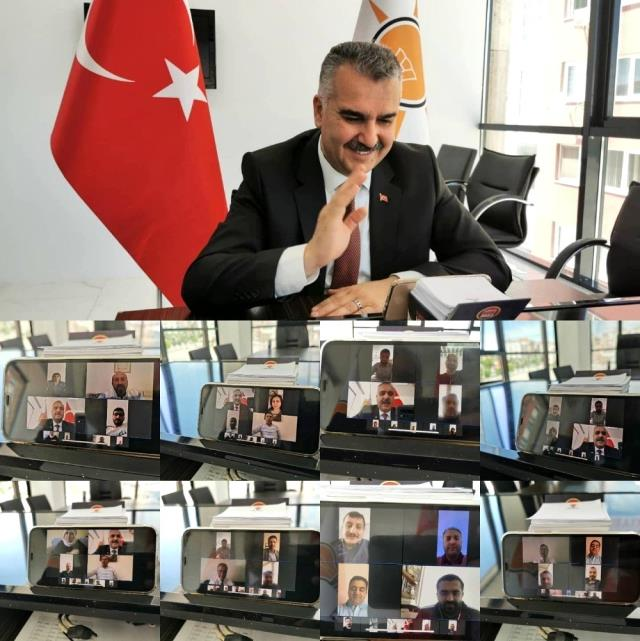 AK Parti'de telekonferanslı bayramlaşma