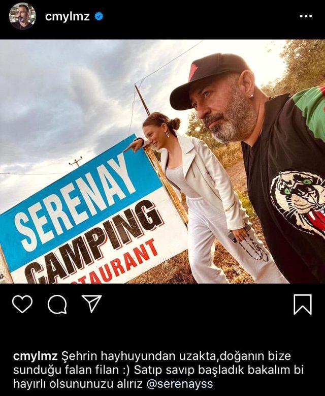 Cem Yılmaz, ilk kez Seranay Sarıkaya'yla fotoğrafını paylaştı