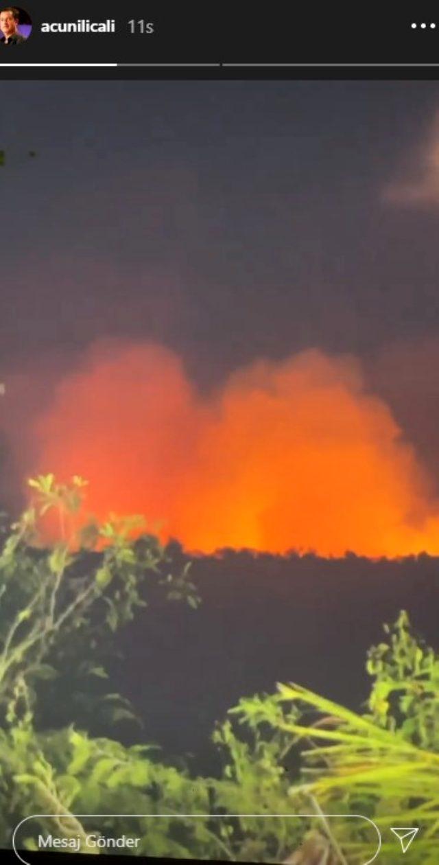 Survivor'un çekimlerinin yapıldığı Dominik'te yangın çıktı