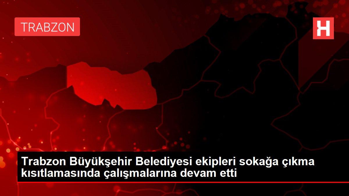 Trabzon Büyükşehir Belediyesi ekipleri sokağa çıkma kısıtlamasında çalışmalarına devam etti