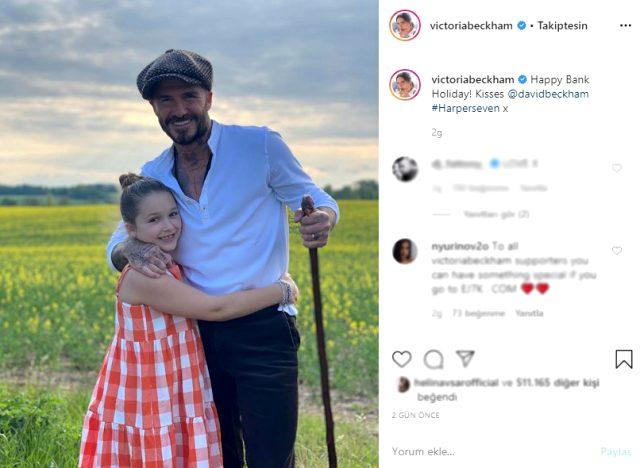 Victoria Beckham, banka tatilini David Beckham'ın fotoğrafını paylaşarak kutladı
