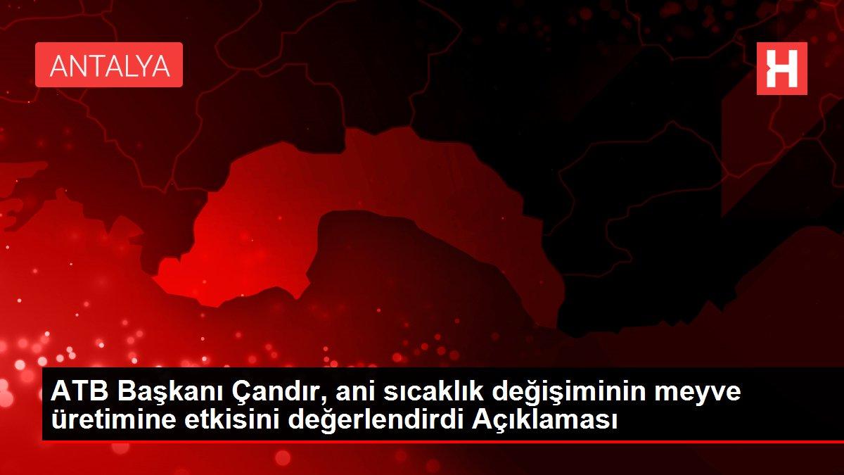 ATB Başkanı Çandır, ani sıcaklık değişiminin meyve üretimine etkisini değerlendirdi Açıklaması
