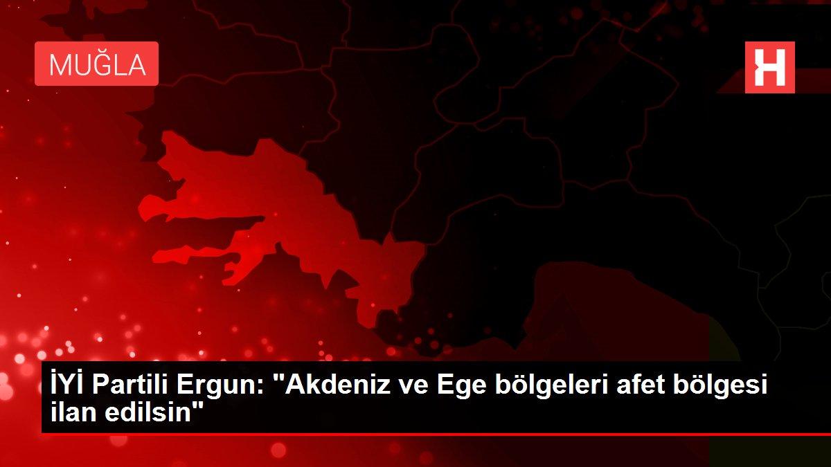 İYİ Partili Ergun: 'Akdeniz ve Ege bölgeleri afet bölgesi ilan edilsin'