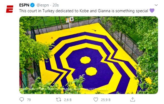 Kadıköy'deki basketbol sahasını dünyaca ünlü spor kanalı sosyal medyadan paylaştı
