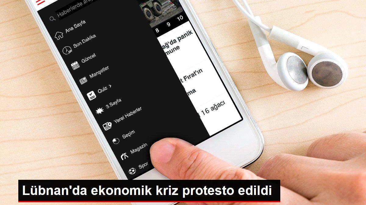 Lübnan'da ekonomik kriz protesto edildi
