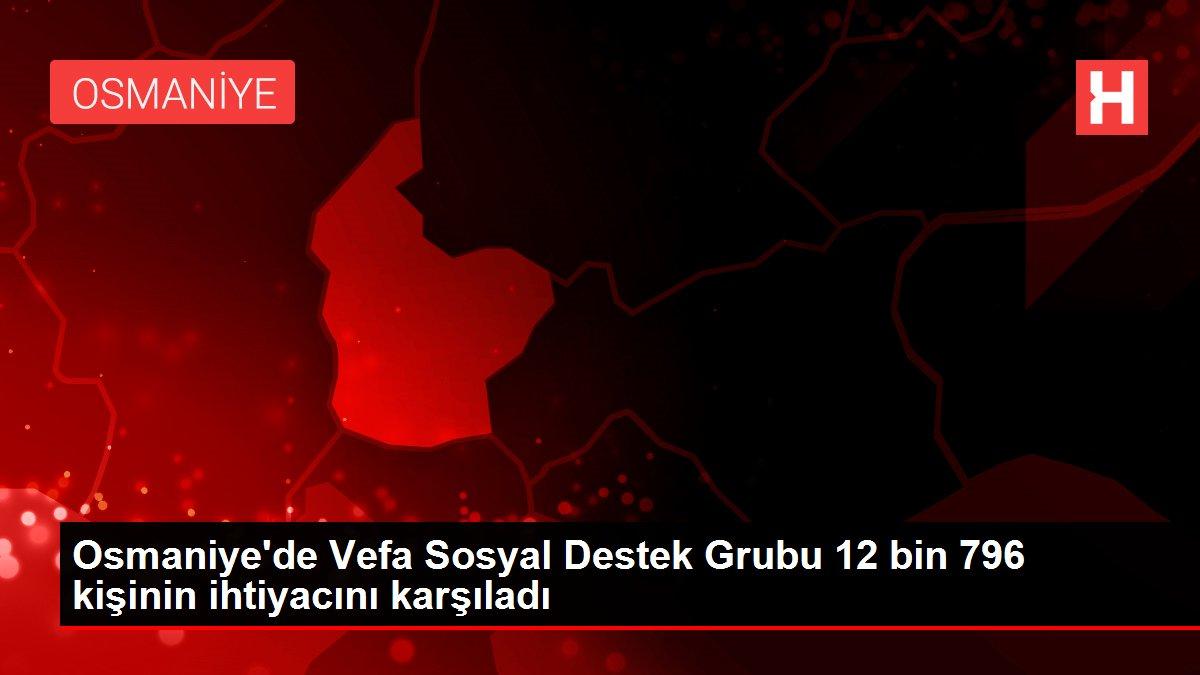 Osmaniye'de Vefa Sosyal Destek Grubu 12 bin 796 kişinin ihtiyacını karşıladı