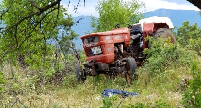 Dedesiyle üzüm bağına giden 3 yaşındaki çocuk traktörden düşerek öldü